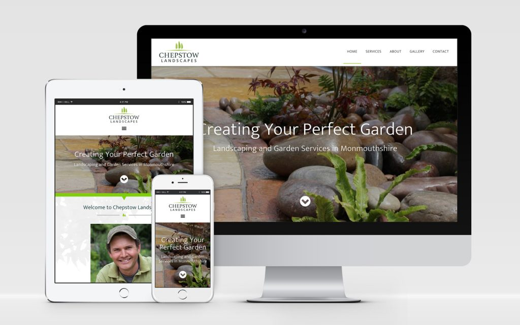 AW Design - website design for Monmouthshire Landscaping Company Chepstow Landscapes