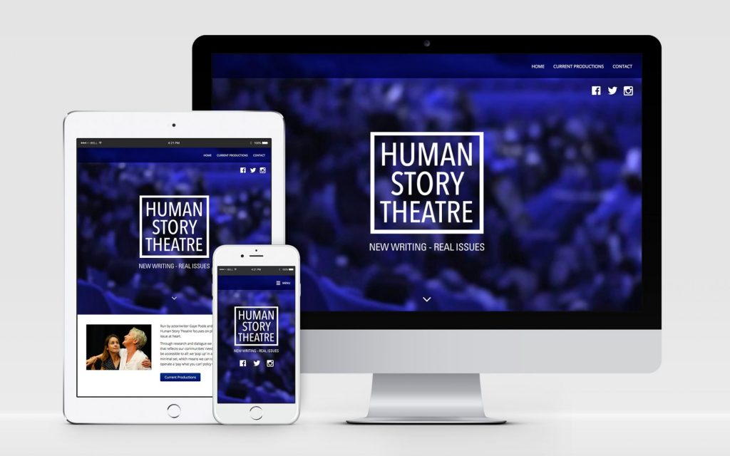 AW Design - website design & graphic design for Oxford Theatre Company Human Story Theatre