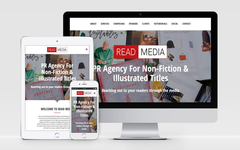 AW Design - website design & graphic design for Oxford PR Company READ Media