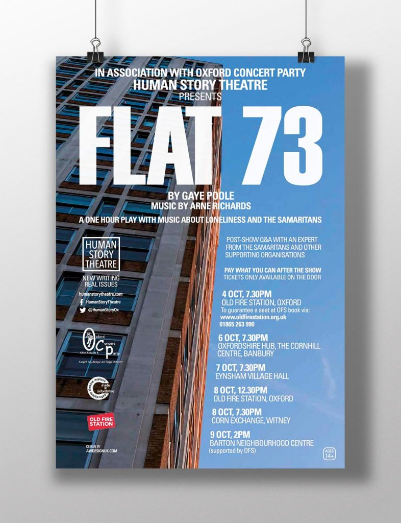 AW Design - Poster design & graphic design for Oxfordshire Theatre Company Human Story Theatre