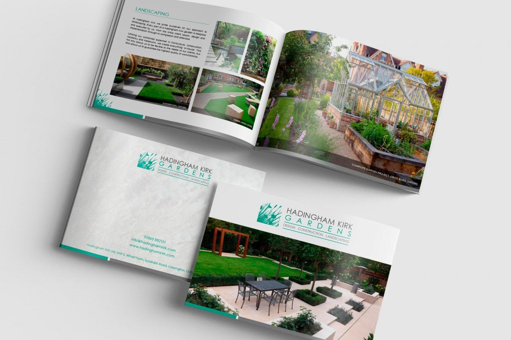 AW Design - Brochure design & graphic design for Oxford Landscaping Company Hadingham Kirk Gardens