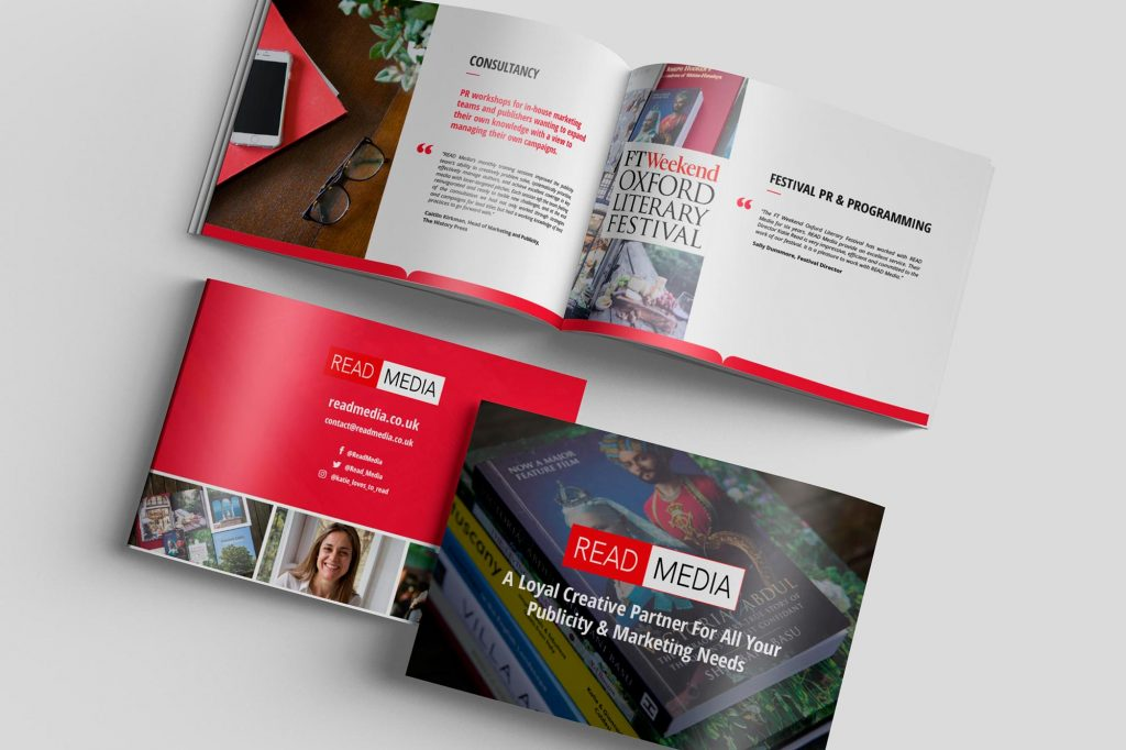 AW Design - Brochure design & graphic design for Oxford PR Company READ Media