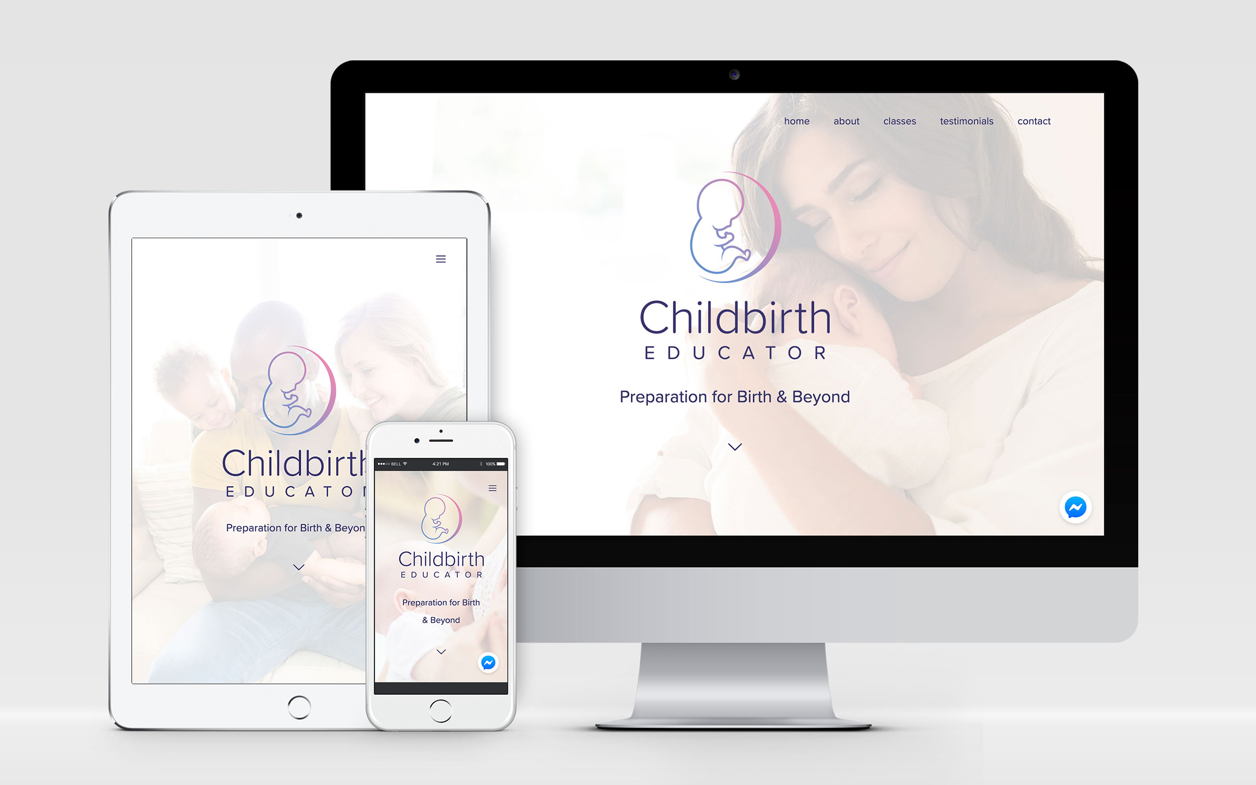 AW Design - website design & graphic design for Childbirth Educator