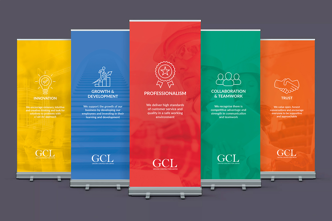 AW Design - Roller banner design for GCL