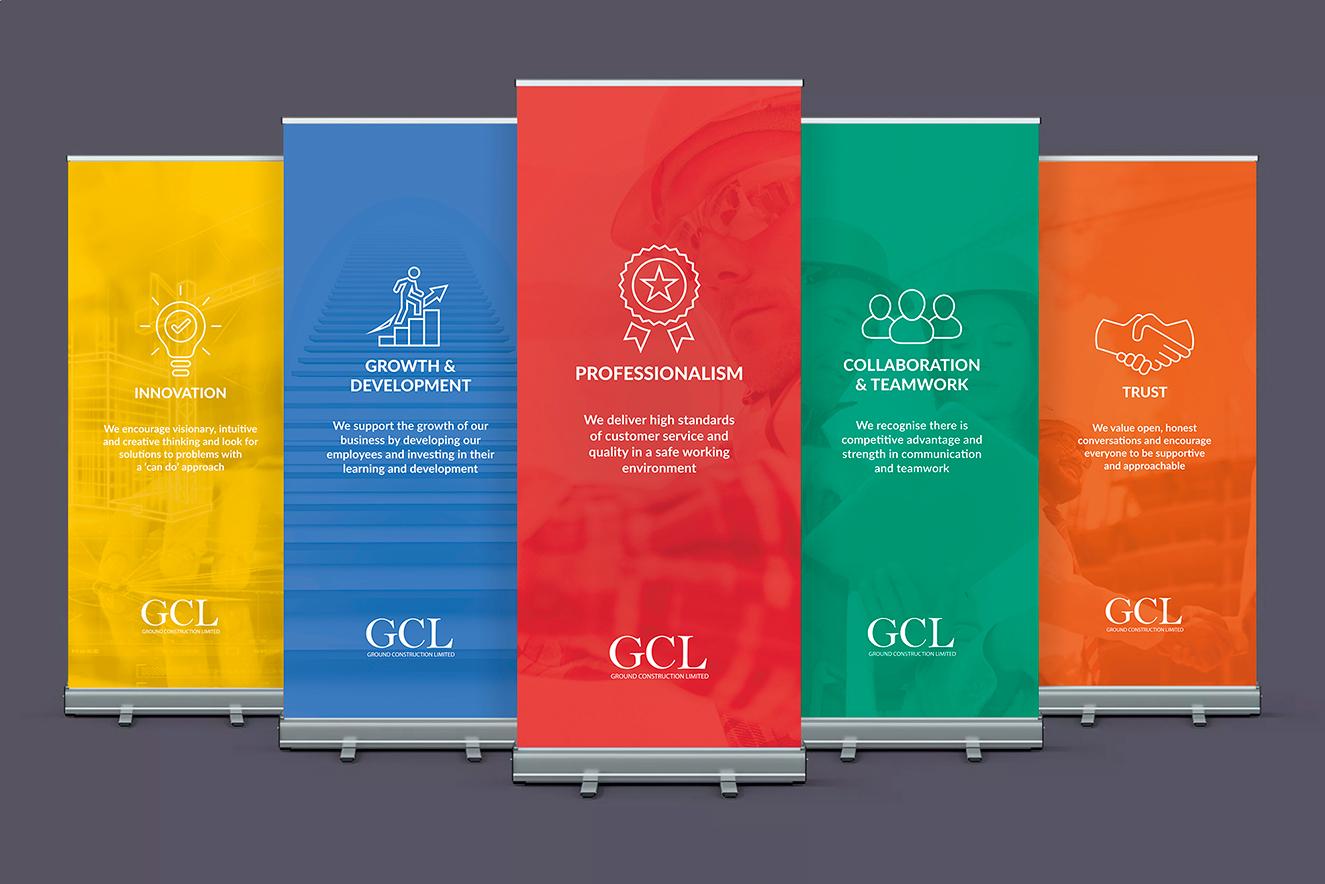 AW Design - Roller banner design for GCL