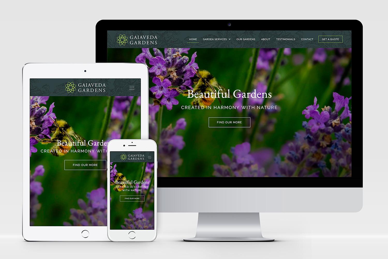 Gaiaveda Gardens website design - AW Design