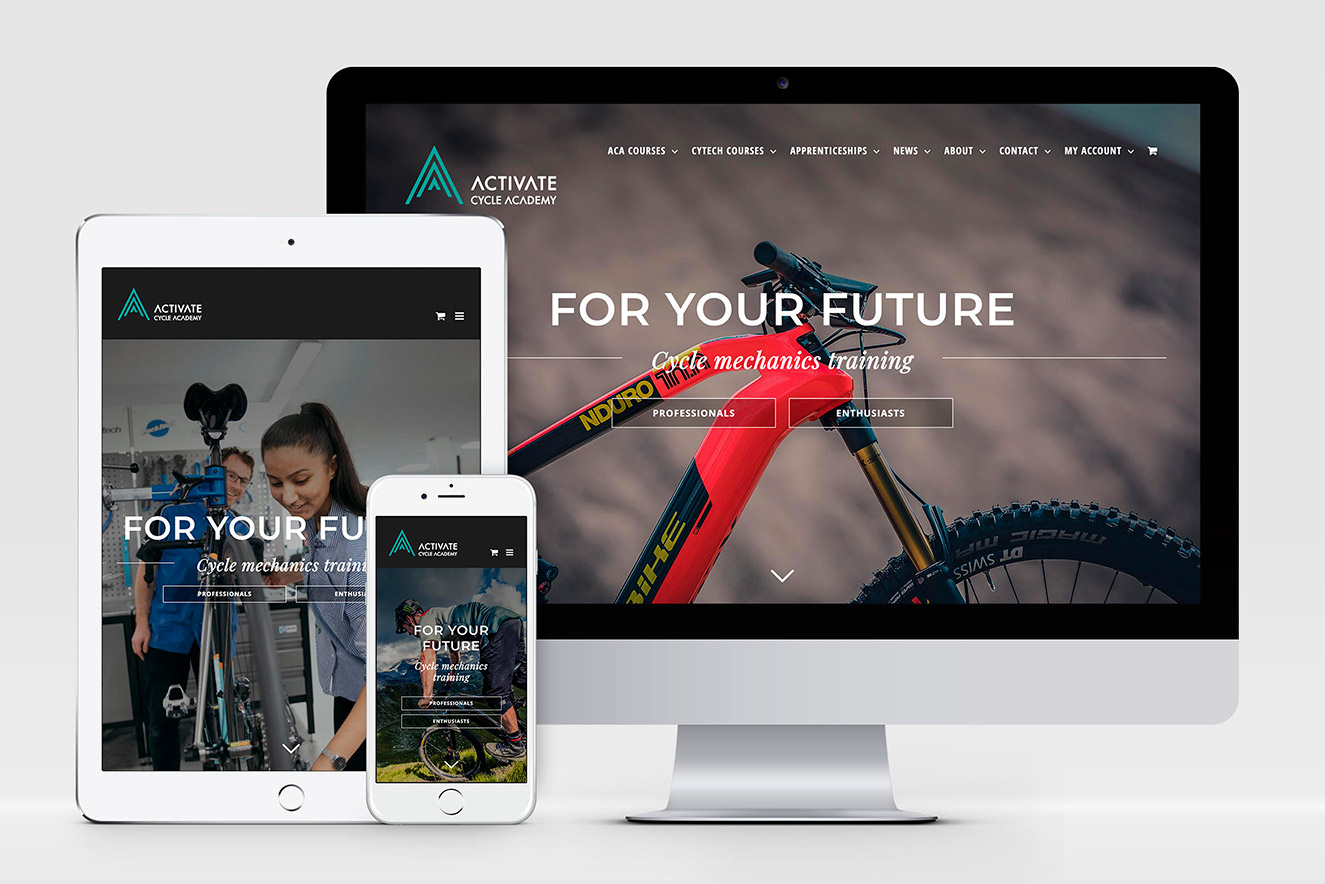 AW Design - website design & graphic design for Activate Cycle Academy, Activate Learning