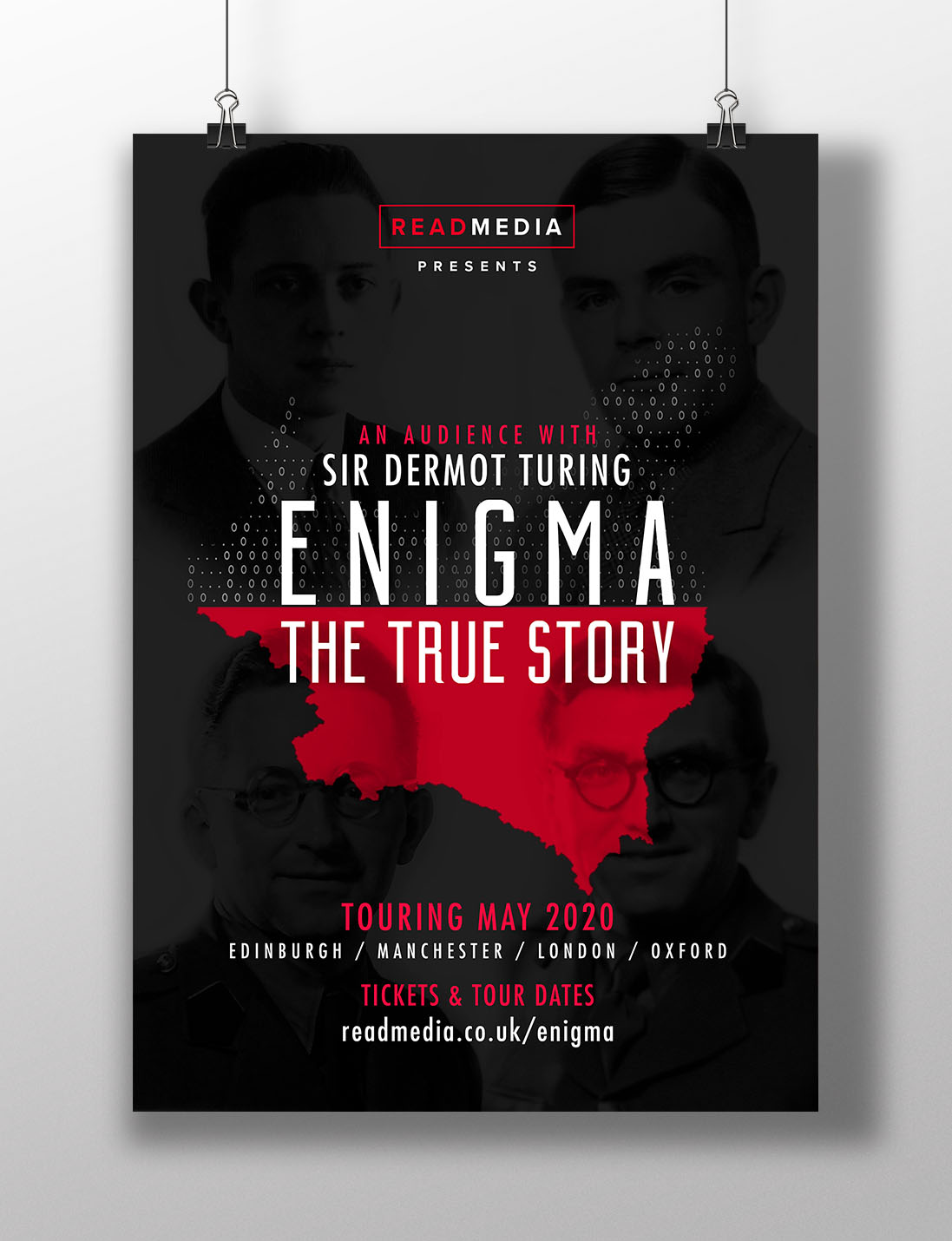 AW Design - Poster design for Sir Dermot Turing in association with Read Media