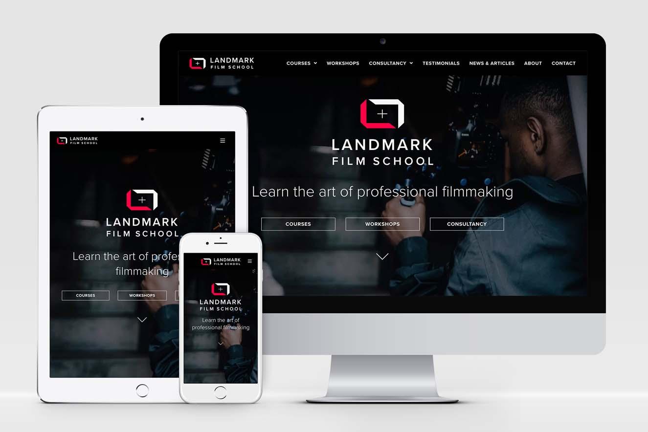 AW Design - website design & graphic design for Landmark Film School