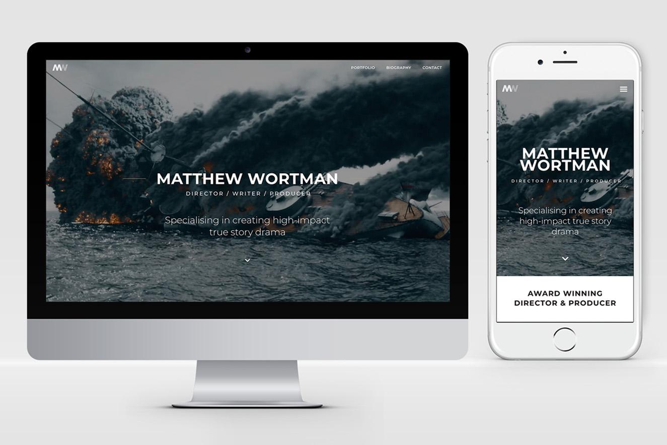 AW Design - website design & graphic design for Matthew Wortman