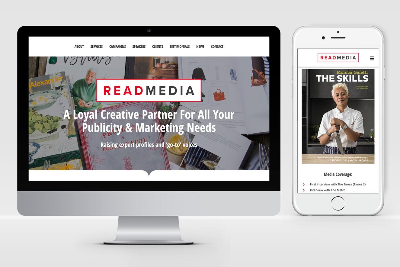 AW Design - website design & graphic design for Oxford PR Company READ Media