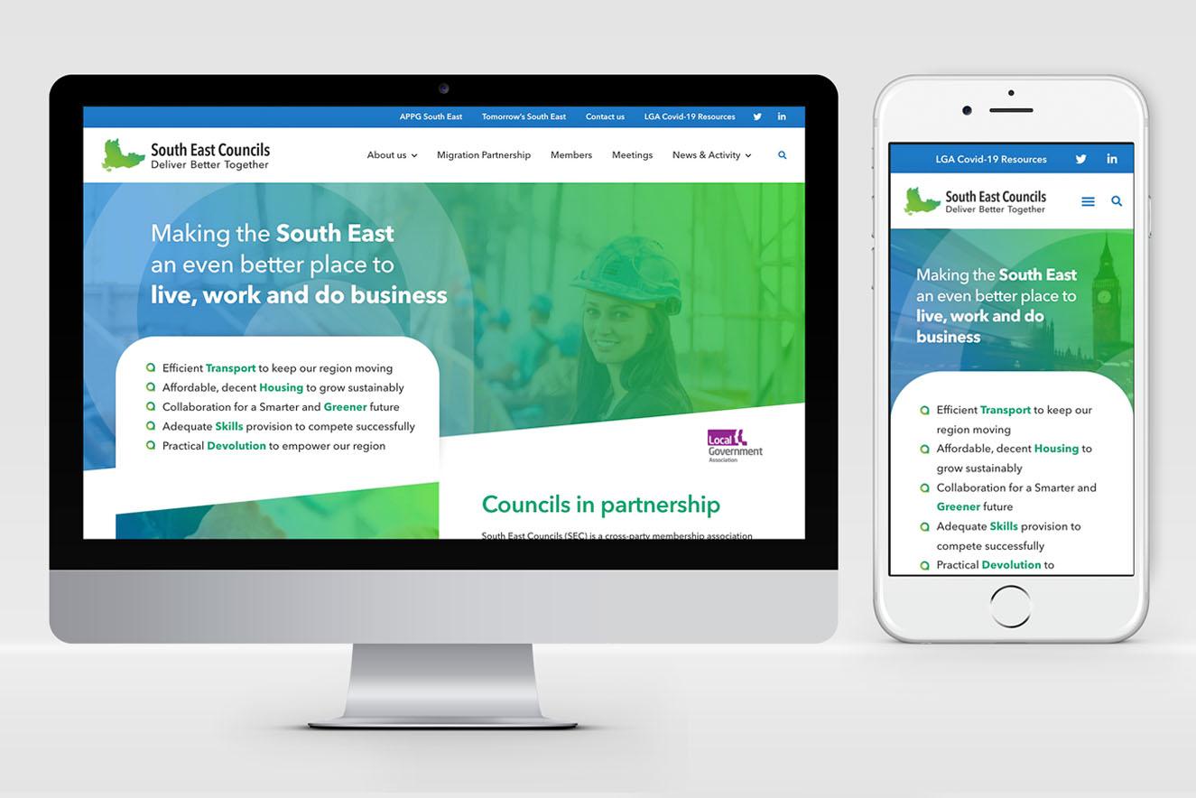 AW Design - website design & graphic design for South East Councils